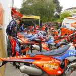Enduro Riders setting KTM bikes to start the Motorcycle Tour
